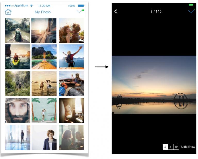 EZCast Pro photo sharing interface