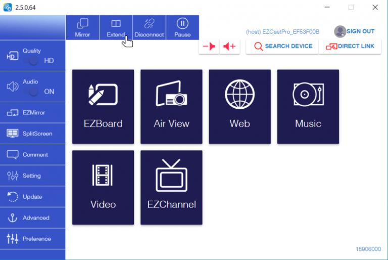 EZCast Pro app for Windows 10
