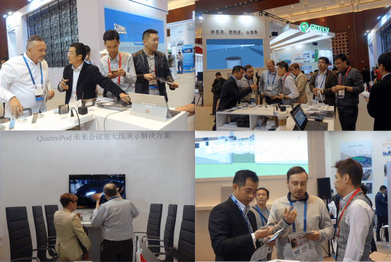 Crowd at EZCast Pro InfoComm China booth