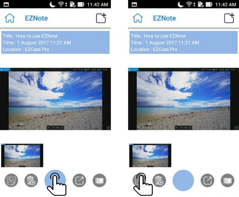 Save slides with EZNote