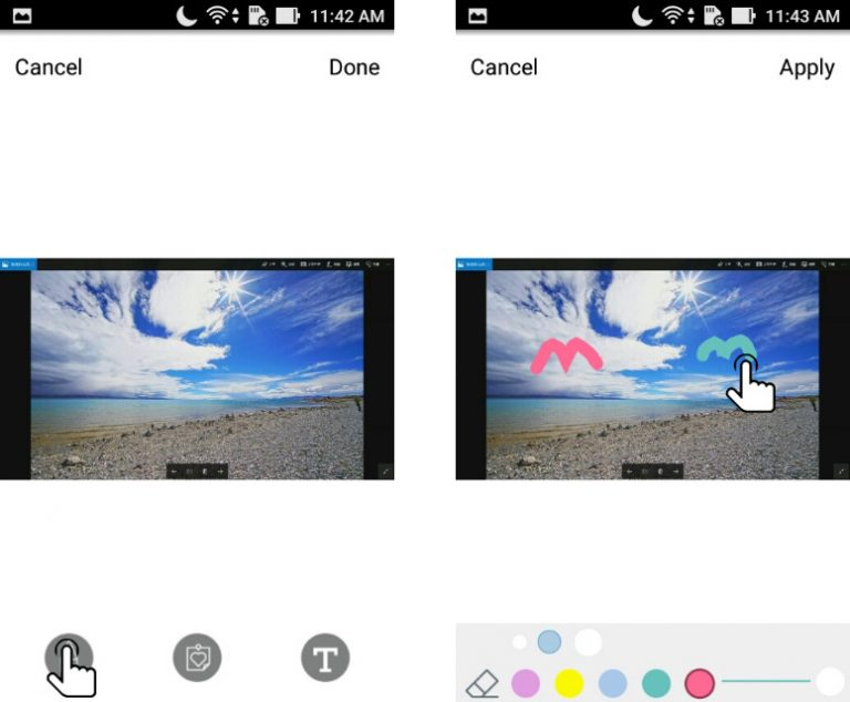Draw on the slide in realtime in EZNote