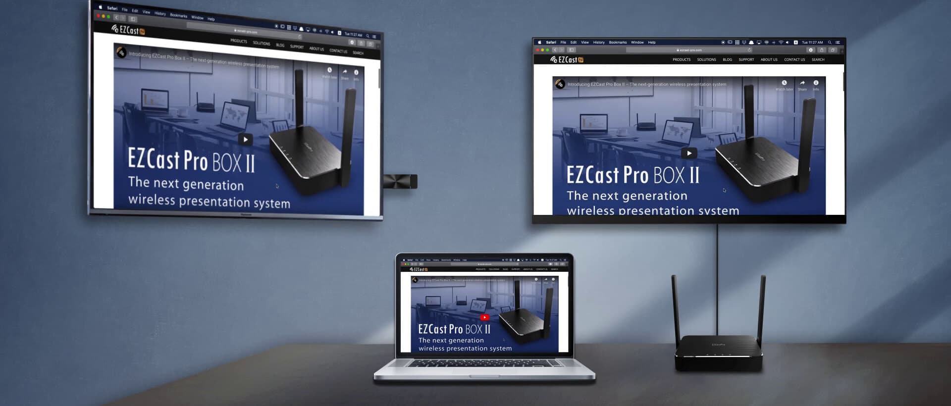 multiple wireless displays with EZCast Pro