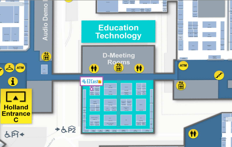 ISE EZCast Pro floor map