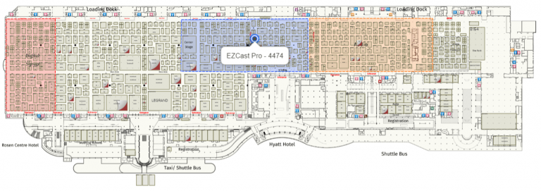 EZCast Pro booth location at InfoComm 2019