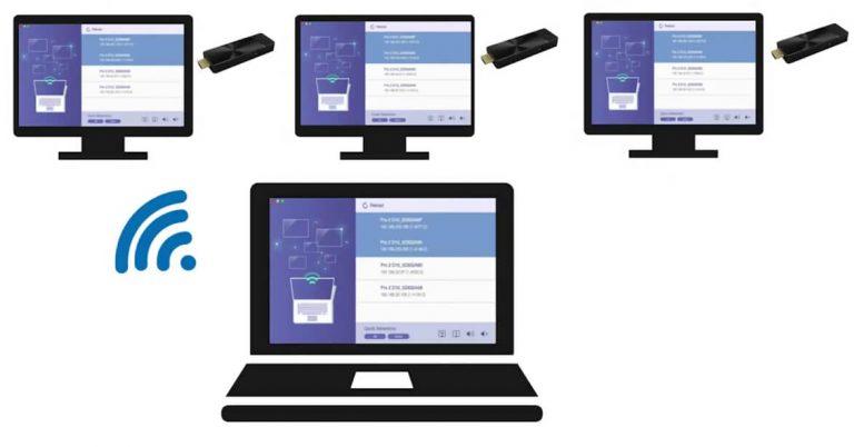 Multi-screen setup using EZCast Pro II and ProCast