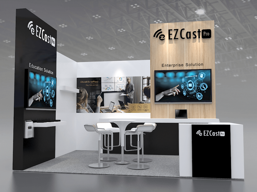 ezcast pro booth at ISE