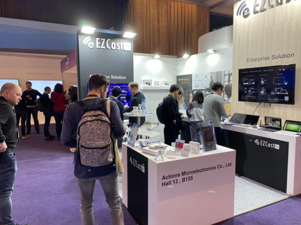 ISE 2020 visitors to EZCast Pro booth