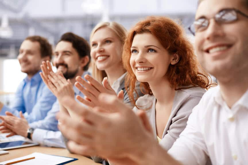 applauding audience to an effective presentation
